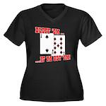 Bluff Texas Hold 'em Women's Plus Size V-Neck Dark