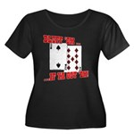 Bluff Texas Hold 'em Women's Plus Size Scoop Neck