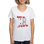 Bluff Texas Hold 'em Women's V-Neck T-Shirt
