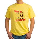 Bluff Texas Hold 'em Yellow T-Shirt