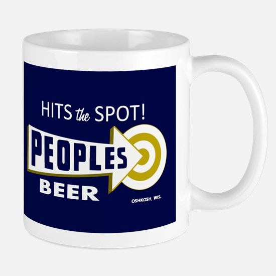 Peoples Beer Rectangle label Mugs