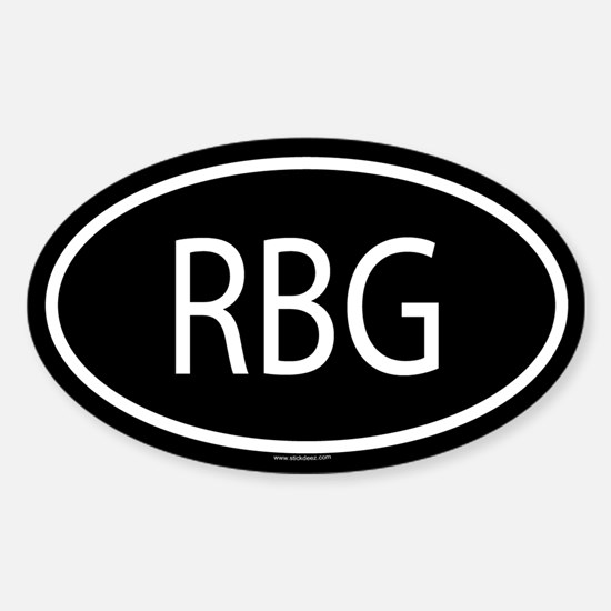 RBG Oval Decal
