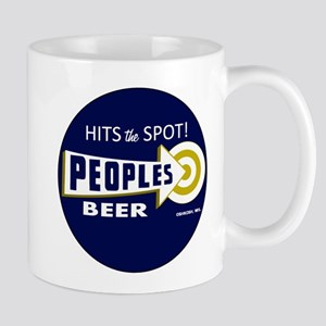Peoples Beer Round label Mugs