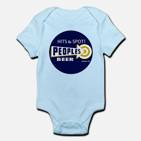 Peoples Beer Round label Body Suit