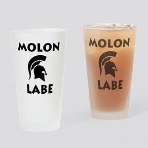 Spartan_BlackTransparent Drinking Glass