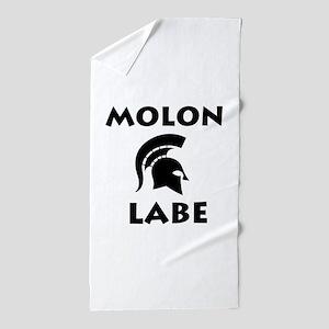 Spartan_BlackTransparent Beach Towel