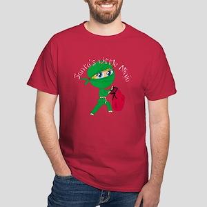 Santas Little Ninja Dark T-Shirt