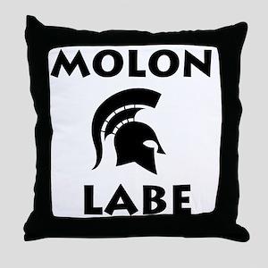 Spartan_BlackTransparent Throw Pillow