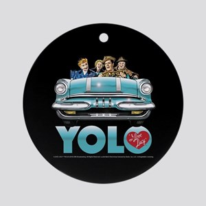 I Love Lucy: YOLO Round Ornament