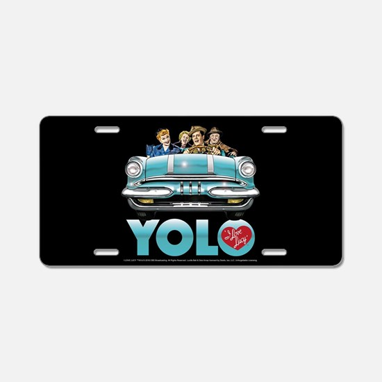 I Love Lucy: YOLO Aluminum License Plate