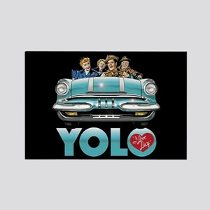 I Love Lucy: YOLO Rectangle Magnet