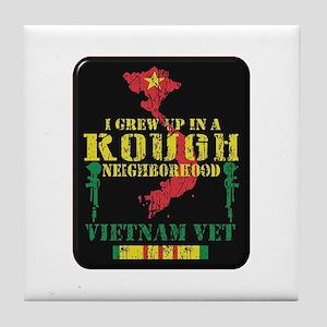 Rough Neighborhood Vietnam Tile Coaster