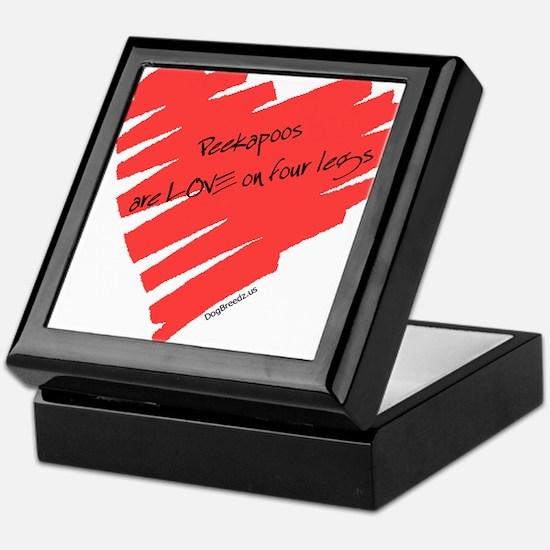 Peekapoo Love on 4 Legs Keepsake Box