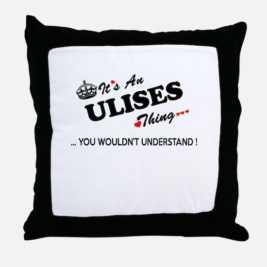Unique Ulises Throw Pillow
