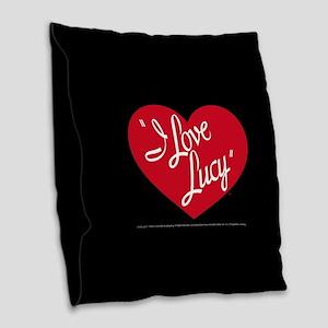 I Love Lucy: Logo Burlap Throw Pillow
