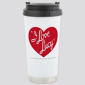 I Love Lucy: Logo Stainless Steel Travel Mug