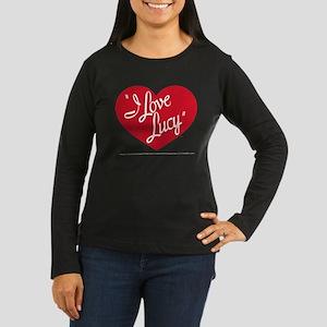 I Love Lucy: Logo Women's Long Sleeve Dark T-Shirt