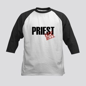 Off Duty Priest Kids Baseball Jersey