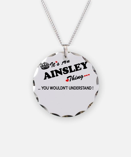 Funny Ainsley Necklace Circle Charm