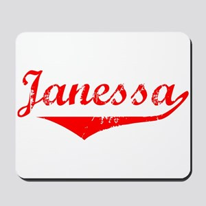 Janessa Vintage (Red) Mousepad