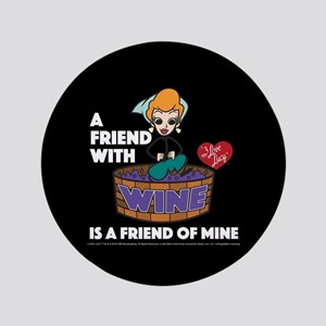I Love Lucy: Wine Friend Button