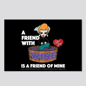 I Love Lucy: Wine Friend Postcards (Package of 8)