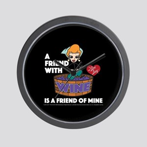 I Love Lucy: Wine Friend Wall Clock