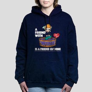 I Love Lucy: Wine Friend Women's Hooded Sweatshirt