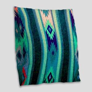 Indian Blanket Burlap Throw Pillow