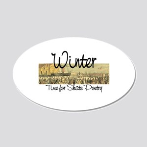 Skate Poetry 20x12 Oval Wall Decal