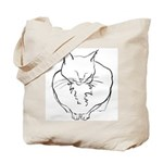 contented cat .11x11 Tote Bag