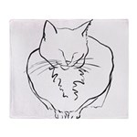contented cat .11x11 Throw Blanket