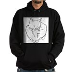 contented cat .11x11 Hoodie