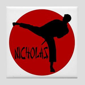 Nicholas Karate Tile Coaster
