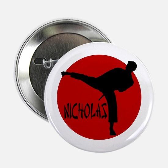 "Nicholas Karate 2.25"" Button"