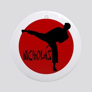 Nicholas Karate Ornament (Round)