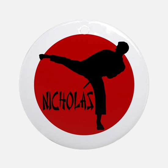 Nicholas Karate Ornament (Round)