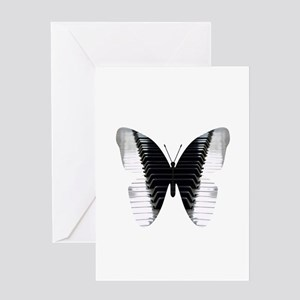 Butterfly Piano Greeting Cards