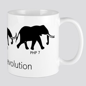 Elephpant Evolution White Mugs