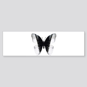 Butterfly Piano Bumper Sticker