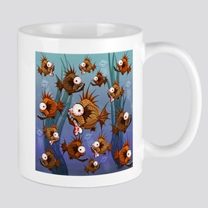 Psycho Fish Piranha Mugs