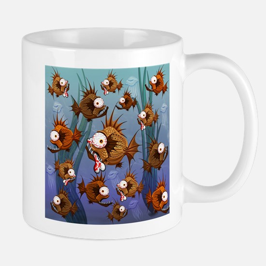 Psycho Fish Piranha Mugs
