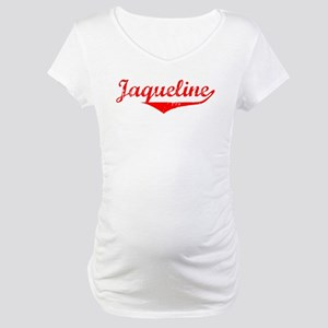 Jaqueline Vintage (Red) Maternity T-Shirt