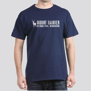 Deer: Mount Rainier, Washington Dark T-Shirt