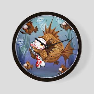 Psycho Fish Piranha Wall Clock