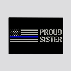 Police: Proud Sister Rectangle Magnet