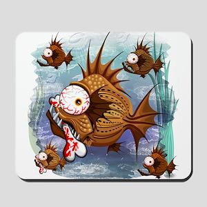 Psycho Fish Piranha Mousepad