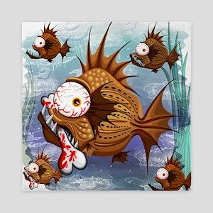 Psycho Fish Piranha Queen Duvet