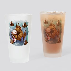 Psycho Fish Piranha Drinking Glass
