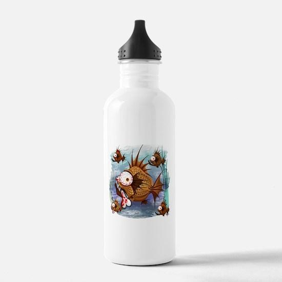 Psycho Fish Piranha Sports Water Bottle